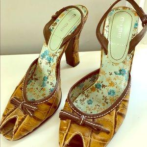 Miu Miu high heel sandals